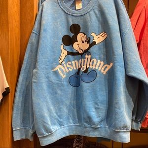 Mickey Mouse Blue Vintage looking pullover